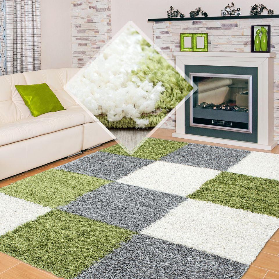 Hochflor Langflor Wohnzimmer Esszimmer Teppich Shaggy